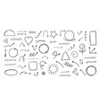 doodle hand drawn shapes marker freehand artistic vector image