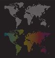 dotted world maps vector image