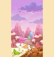 fantastic sweet landscape vector image vector image
