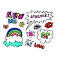 Fashion modern doodle cartoon patch badges or vector image vector image