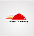 fast cooking logo icon element and template vector image vector image