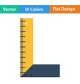 Flat design icon of setsquare vector image vector image
