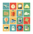 flat icons travel vector image vector image