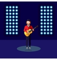 Flat of singer on stage music vector image