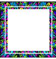 Glass Abstract Square Frame vector image