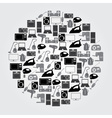 home electrical appliances black and gray icons vector image vector image