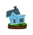 house after an earthquake property insurance vector image
