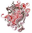 lion image design tattoo emblem logo vector image vector image