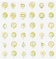 Minimal thin line design web icon set stamps vector image vector image