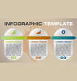 modern colorful infographics options template vector image vector image