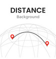 navigator distance with pin pointers vector image vector image