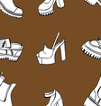 pattern with shoes vector image vector image