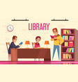 people reading books background vector image vector image