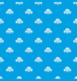 pizza hot pattern seamless blue vector image vector image