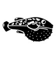 poison fish icon simple style vector image