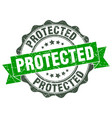 Protected stamp sign seal