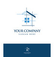 real estate logo design template vector image vector image