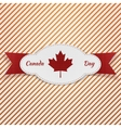 Realistic Graphic Element for Canada Day vector image vector image