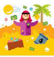 rich man from the uae success arabic vector image vector image