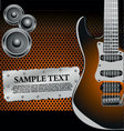 rock music background vector image vector image