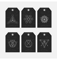 Sacred geometry tags set vector image vector image