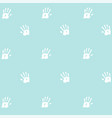 seamless pattern prints of hands of the child vector image vector image
