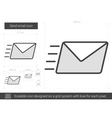 Send email line icon vector image vector image