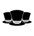 set of hat of leprechaun accessory vector image
