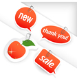 set of red labels vector image vector image