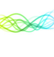 smooth light waves lines abstract vector image vector image