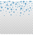 snowflake transparent background vector image