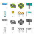 stands and signs and other web icon in cartoon vector image vector image
