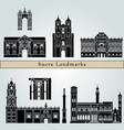 sucre landmarks vector image vector image