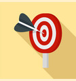 target solution icon flat style vector image vector image