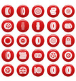 tire icons set vetor red vector image vector image