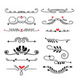 variety decorative borders set vector image vector image