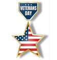 veterans day icon logo realistic style vector image vector image