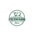 vintage angus cow farm logo graphic design vector image vector image
