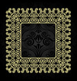 vintage gold frame with swirls on a dark vector image vector image