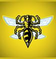 wasp hornet mascot vector image vector image