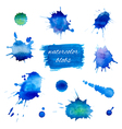 watercolor blobs set vector image