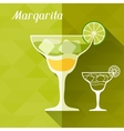 with glass of margarita in flat design style vector image vector image