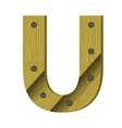 wood letter U vector image vector image