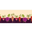 Happy root vegetables horizontal seamless pattern vector image