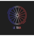 Modern of cycling race emblem vector image