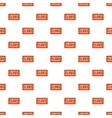 Closed sign pattern cartoon style vector image