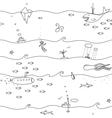 Underwater Seamless Lines Pattern vector image