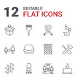 12 one icons vector image vector image