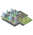 3d isometric megapolis city urban vector image