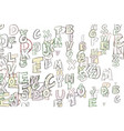 abstract conceptual colorful alphabets letters vector image